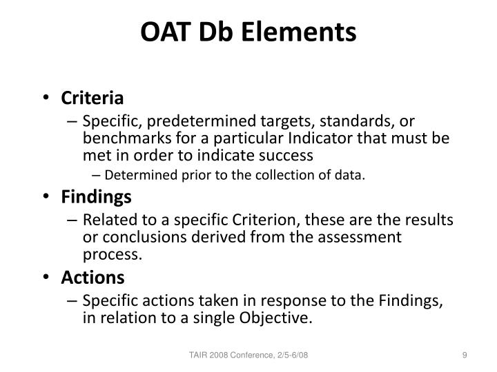 OAT Db Elements