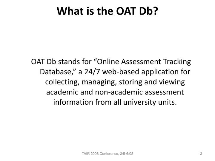 What is the oat db