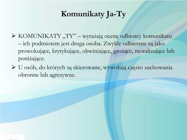 Komunikaty Ja-Ty