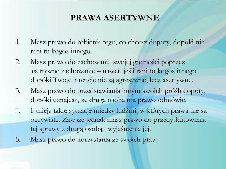 PRAWA ASERTYWNE