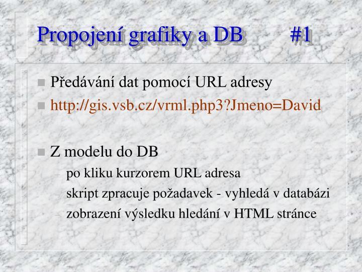 Propojení grafiky a DB