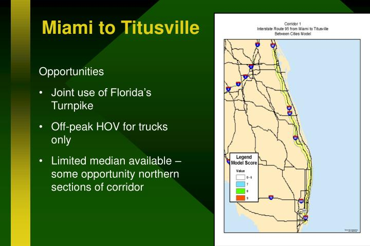 Miami to Titusville