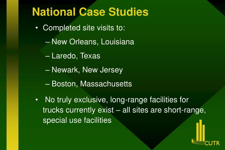 National Case Studies