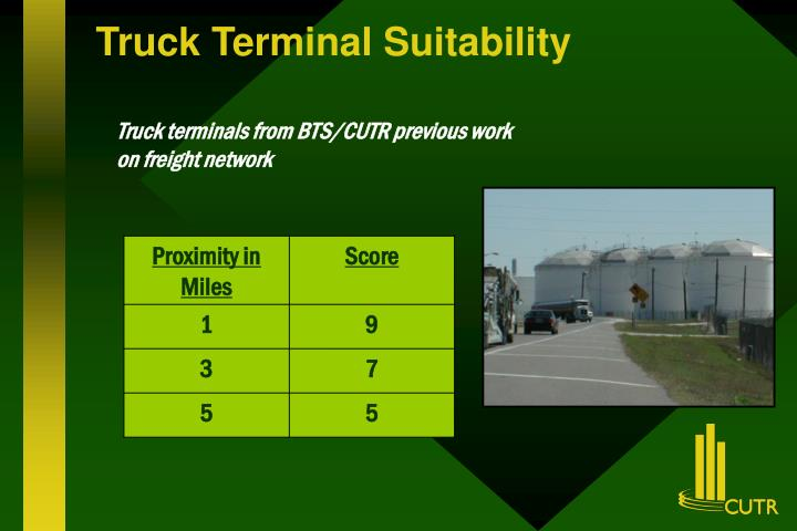 Truck Terminal Suitability