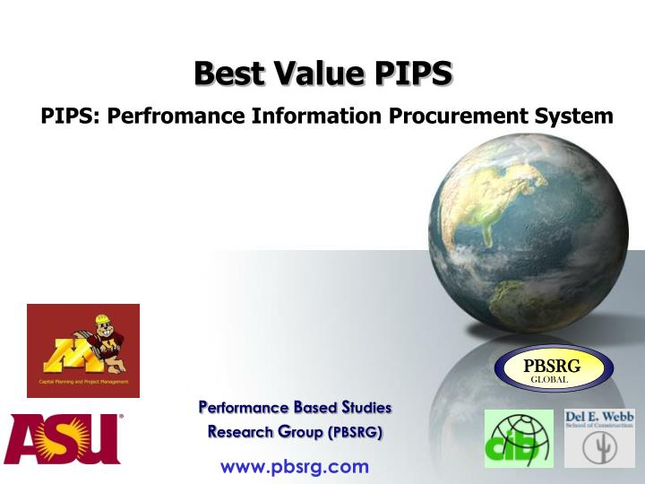 Best value pips pips perfromance information procurement system