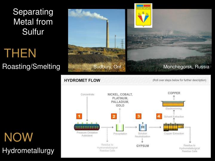 Separating Metal from Sulfur