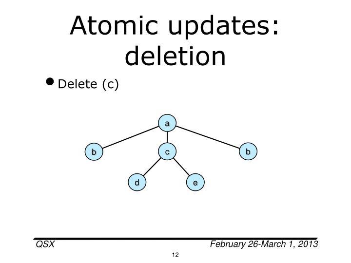 Atomic updates: