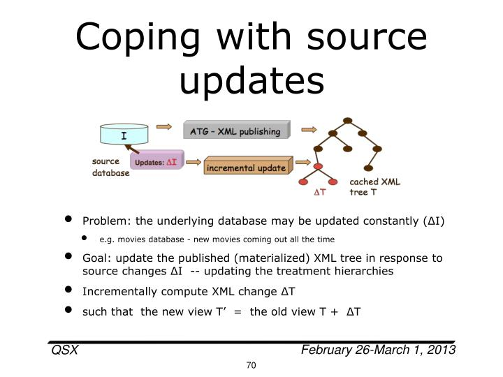 Coping with source updates