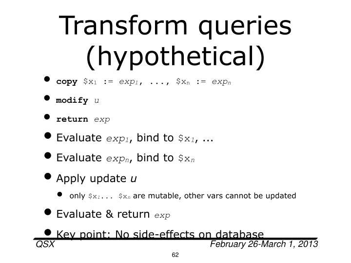 Transform queries