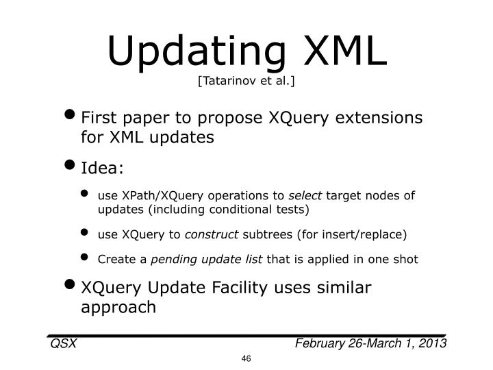 Updating XML