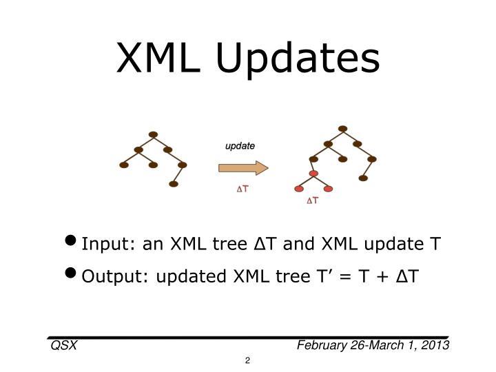 XML Updates