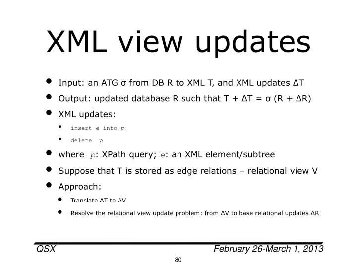 XML view updates