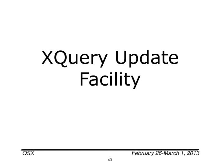 XQuery Update Facility