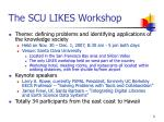the scu likes workshop