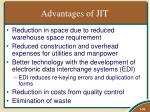 advantages of jit