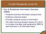 credit standards cont d