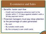 e commerce and sales