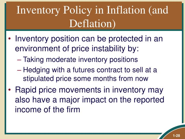 Inventory Policy in Inflation (and Deflation)
