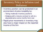 inventory policy in inflation and deflation