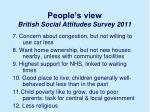 people s view british social attitudes survey 20111