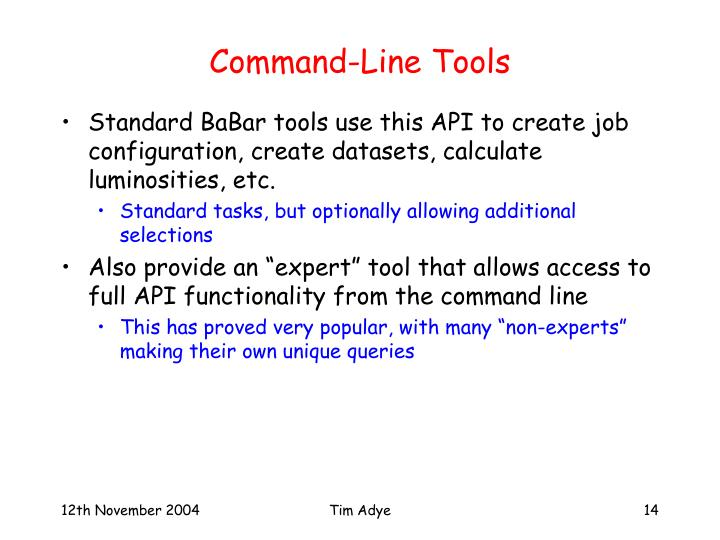 Command-Line Tools