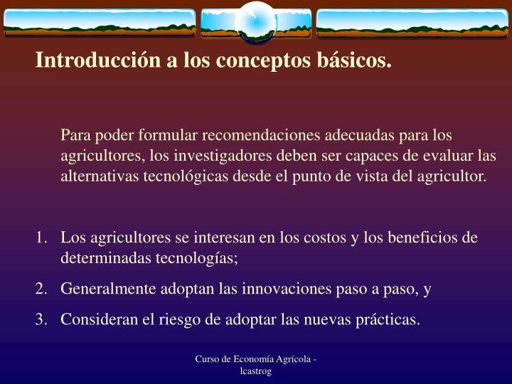 Introducción a los conceptos básicos.
