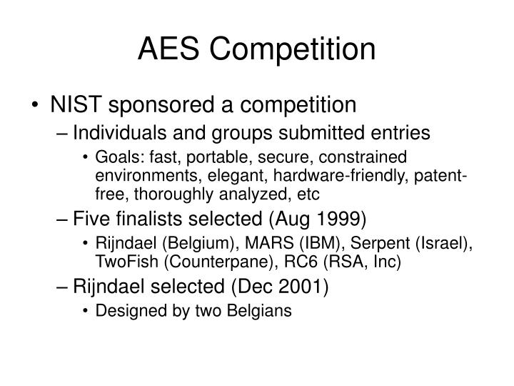 AES Competition