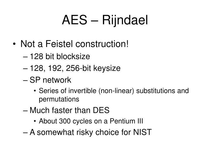 AES – Rijndael