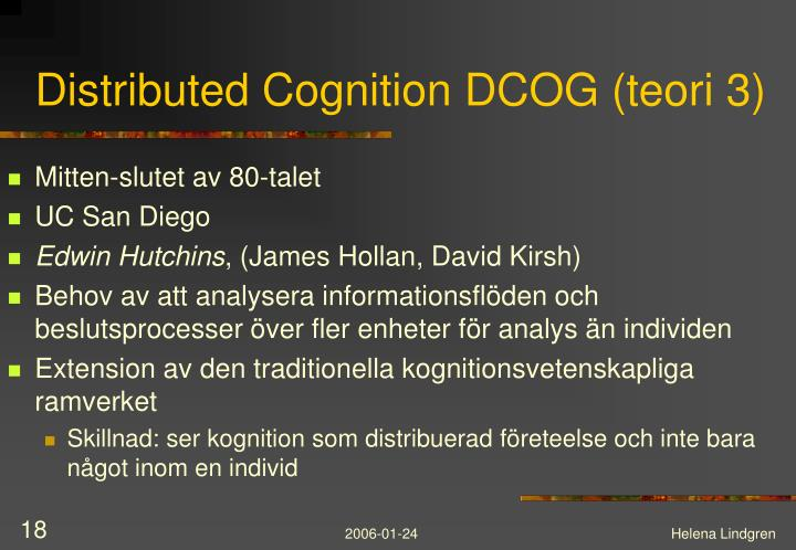 Distributed Cognition DCOG (teori 3)