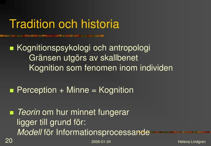 Tradition och historia