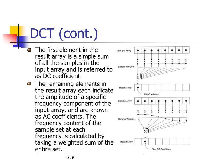 DCT (cont.)