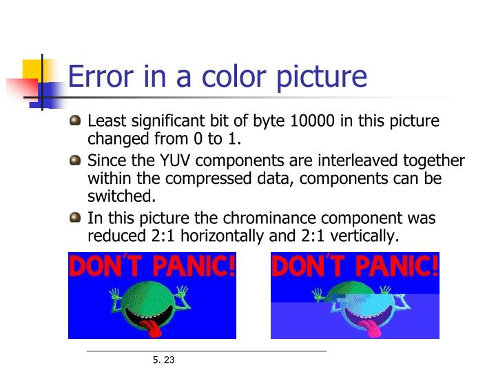 Error in a color picture