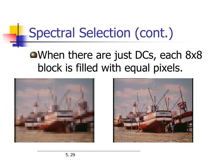 Spectral Selection (cont.)