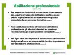 abilitazione professionale art 3 l 174