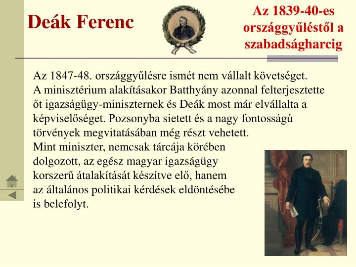 Az 1839-40-es országgyűléstől a szabadságharcig