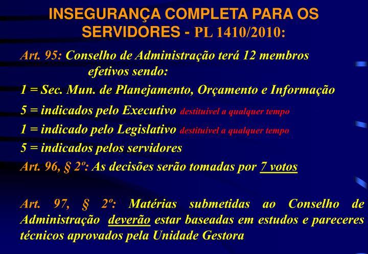 INSEGURANÇA COMPLETA PARA OS SERVIDORES -