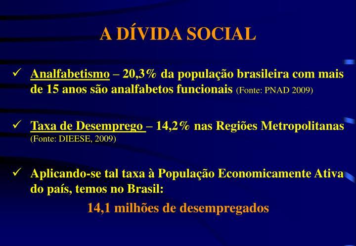 A DÍVIDA SOCIAL