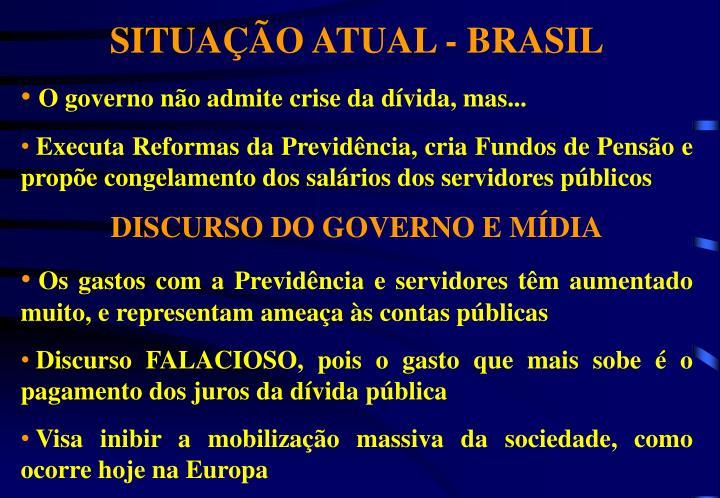 SITUAÇÃO ATUAL - BRASIL
