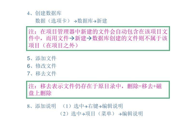 注:在项目管理器中新建的文件会自动包含在该项目文件中,而用文件
