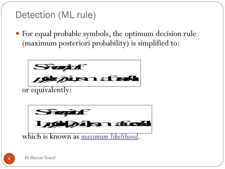 Detection (ML rule)