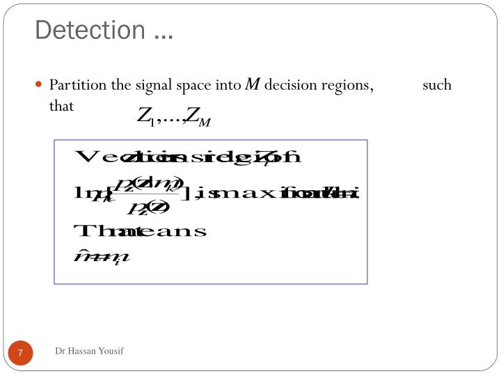 Detection …