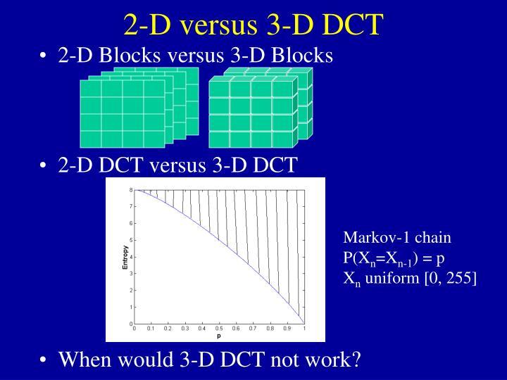 2-D versus 3-D DCT