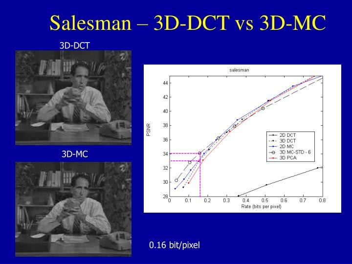 Salesman – 3D-DCT vs 3D-MC