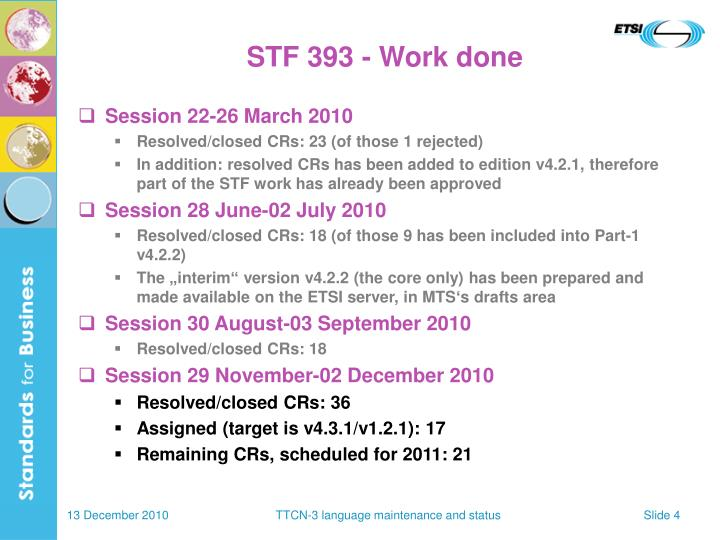 STF 393 - Work done