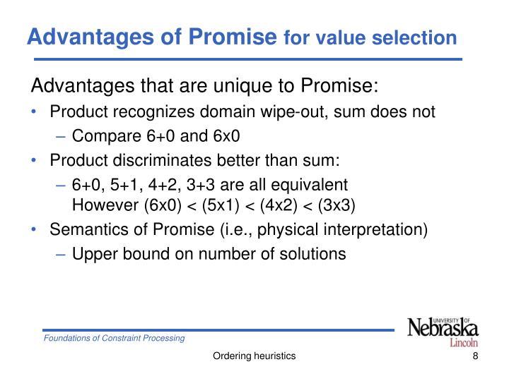 Advantages of Promise