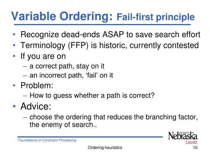 Variable Ordering: