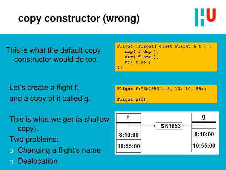 copy constructor (wrong)