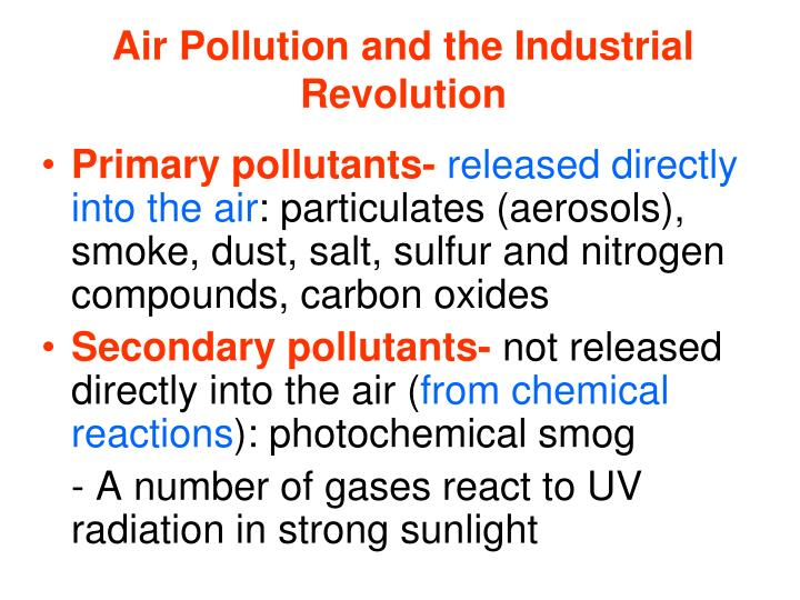 Air Pollution and the Industrial Revolution