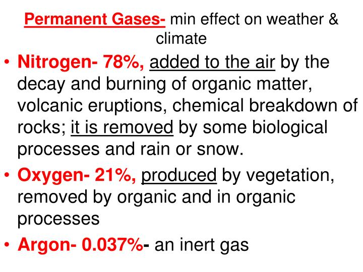 Permanent Gases-