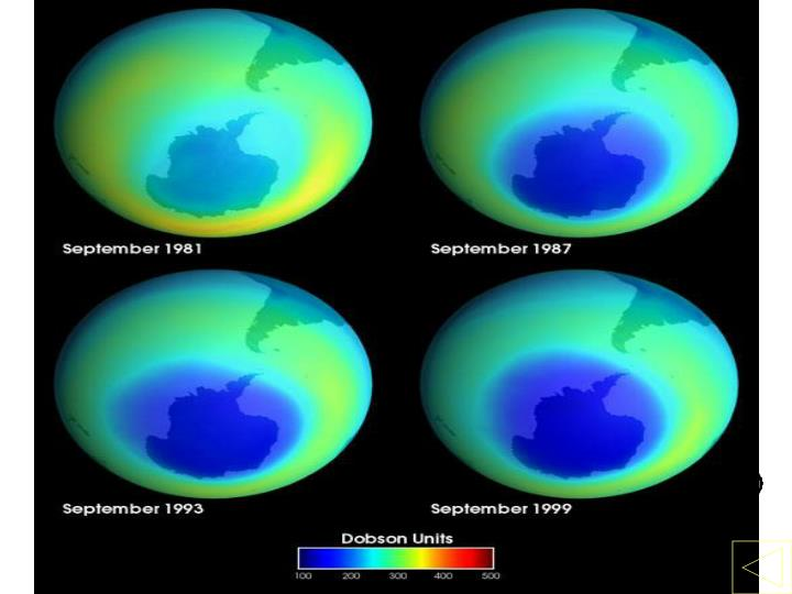 Growing Ozone Hole over Antarctica
